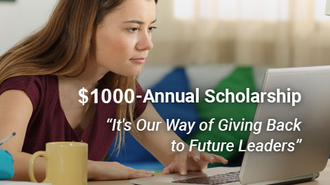 $1,000 Annual Scholarship