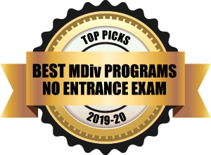 Best Mdiv Programs with no entrance exam badge